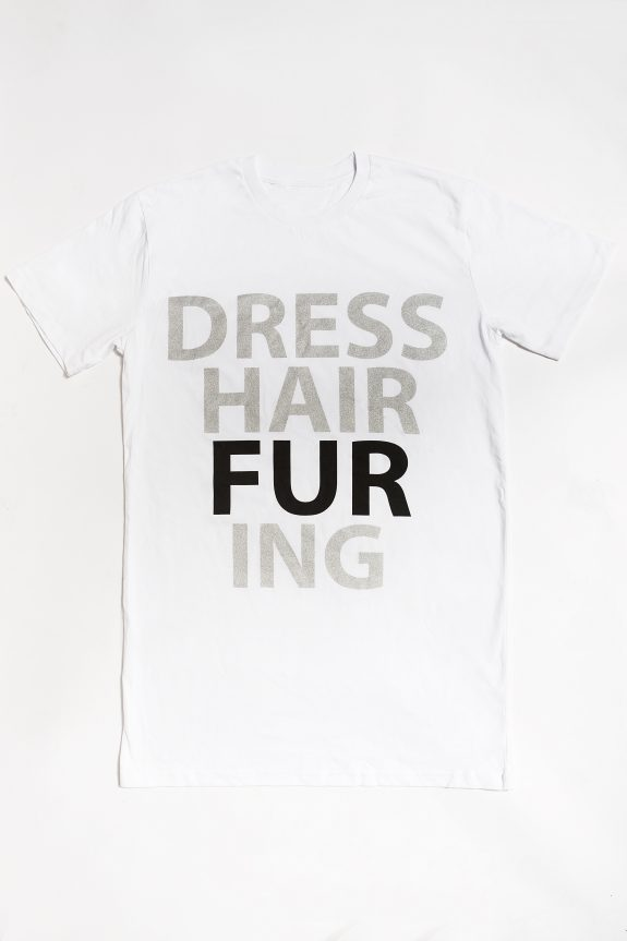 fur shampooDRESS-HAIR-FUR-ING T-shirt – White