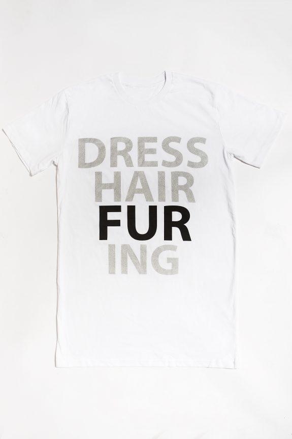 fur shampooDRESS-HAIR-FUR-ING T-shirt – White